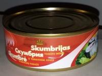 Skumbrija tomātu mērce 240g