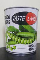 Zaļie zirnīši konservēti Taste Land 800g
